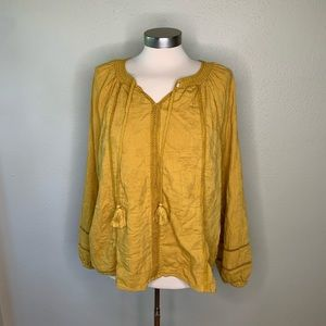Worn once mustard boho top